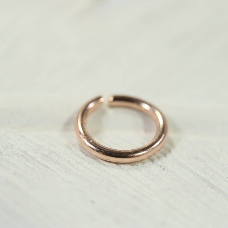 16 gauge single hoop earring endless pink gold
