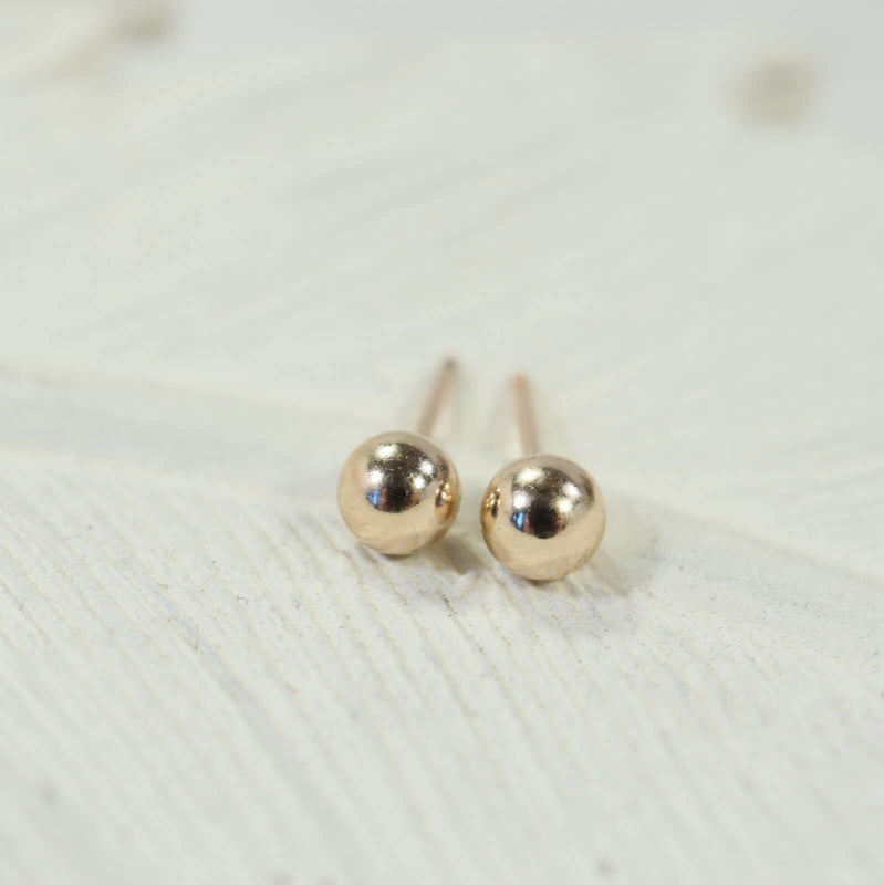 ball stud earrings gold