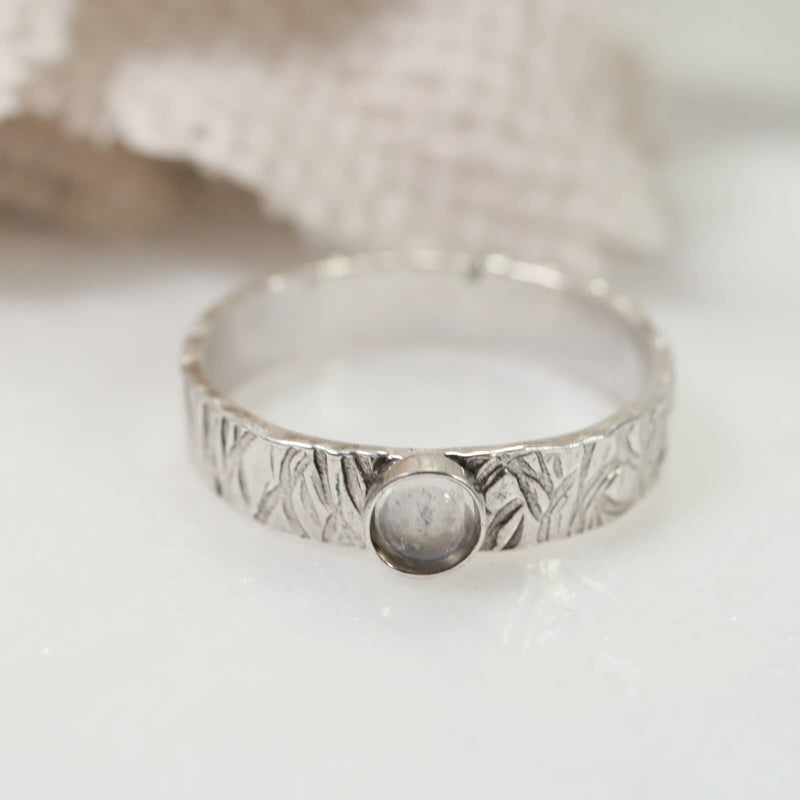 wide band silver ring