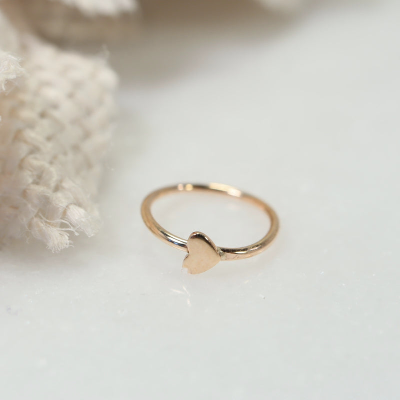 tiny heart tragus earring gold