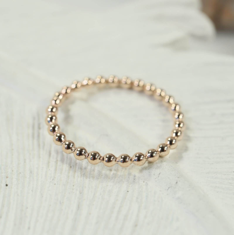 bead stacking ring gold