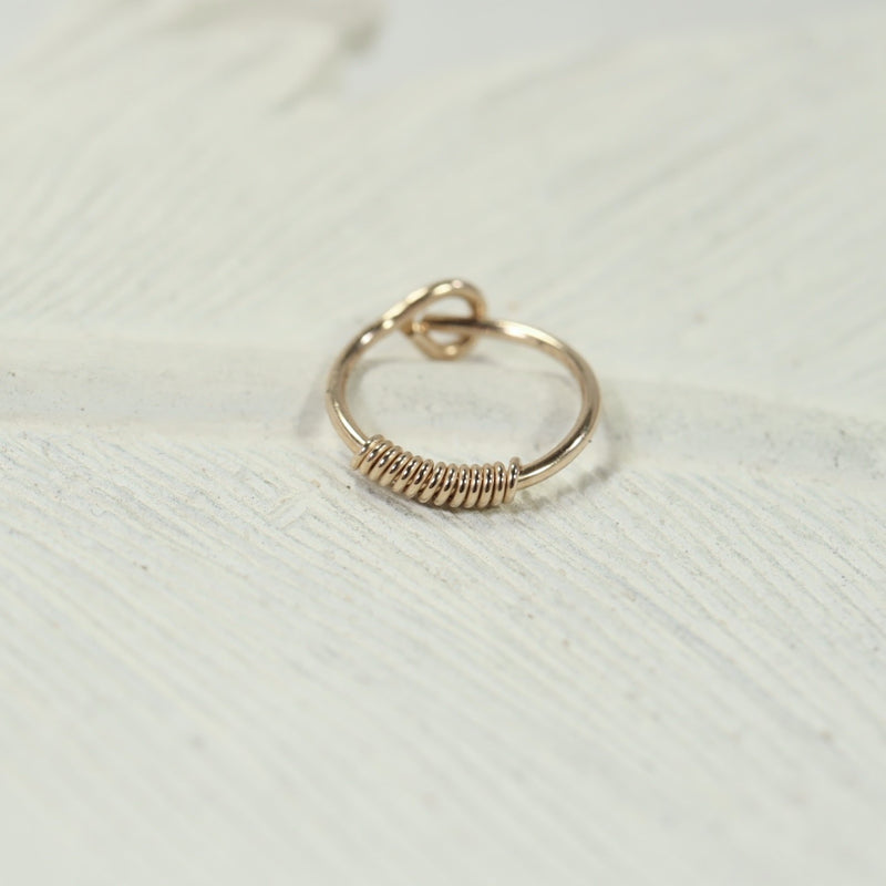 wrapped cartilage hoop earring gold