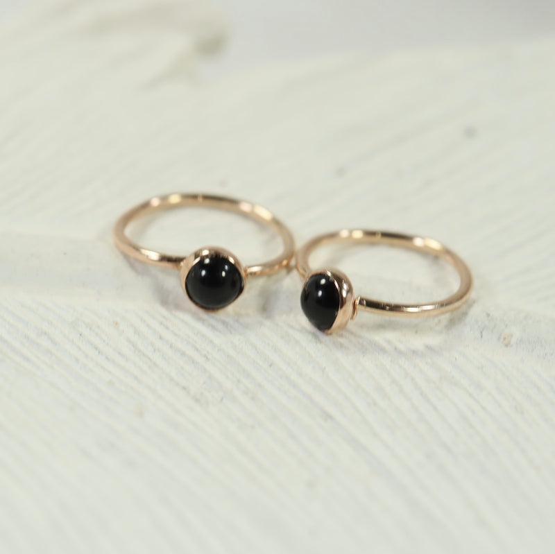 tiny gold hoop earrings gemstone 3mm onyx
