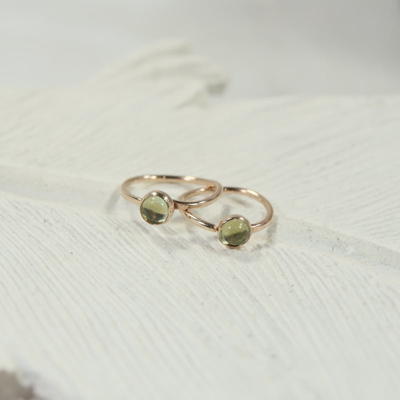 tiny gold hoop earrings gemstone 3mm peridot