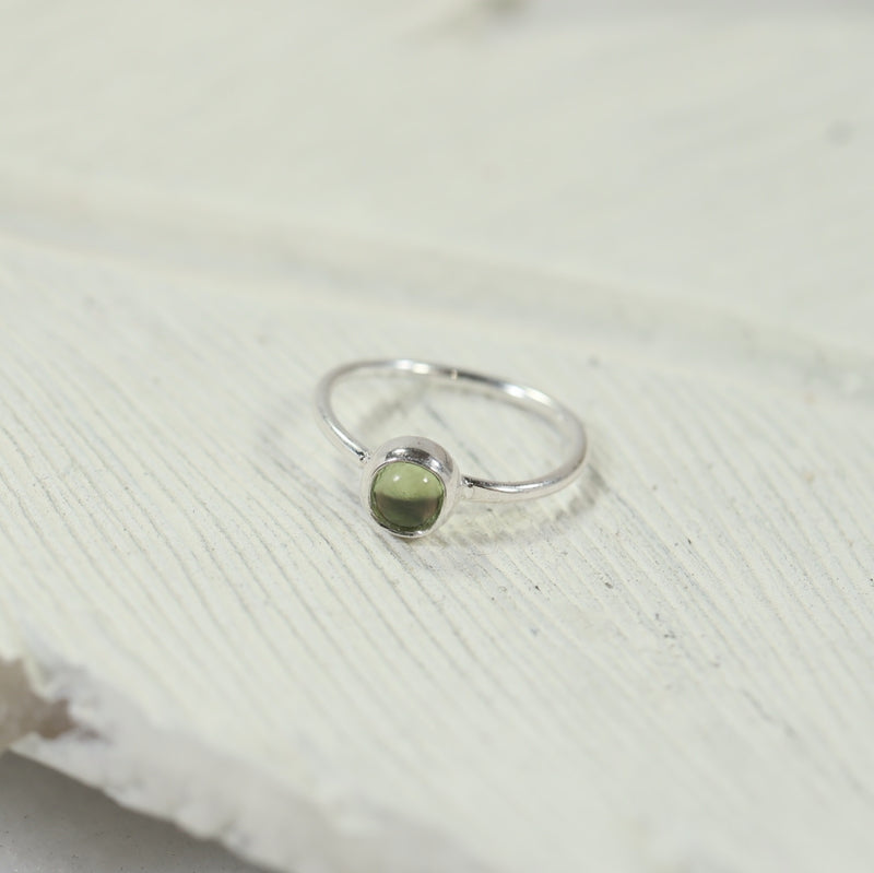 cartilage hoop earrings gemstone silver peridot