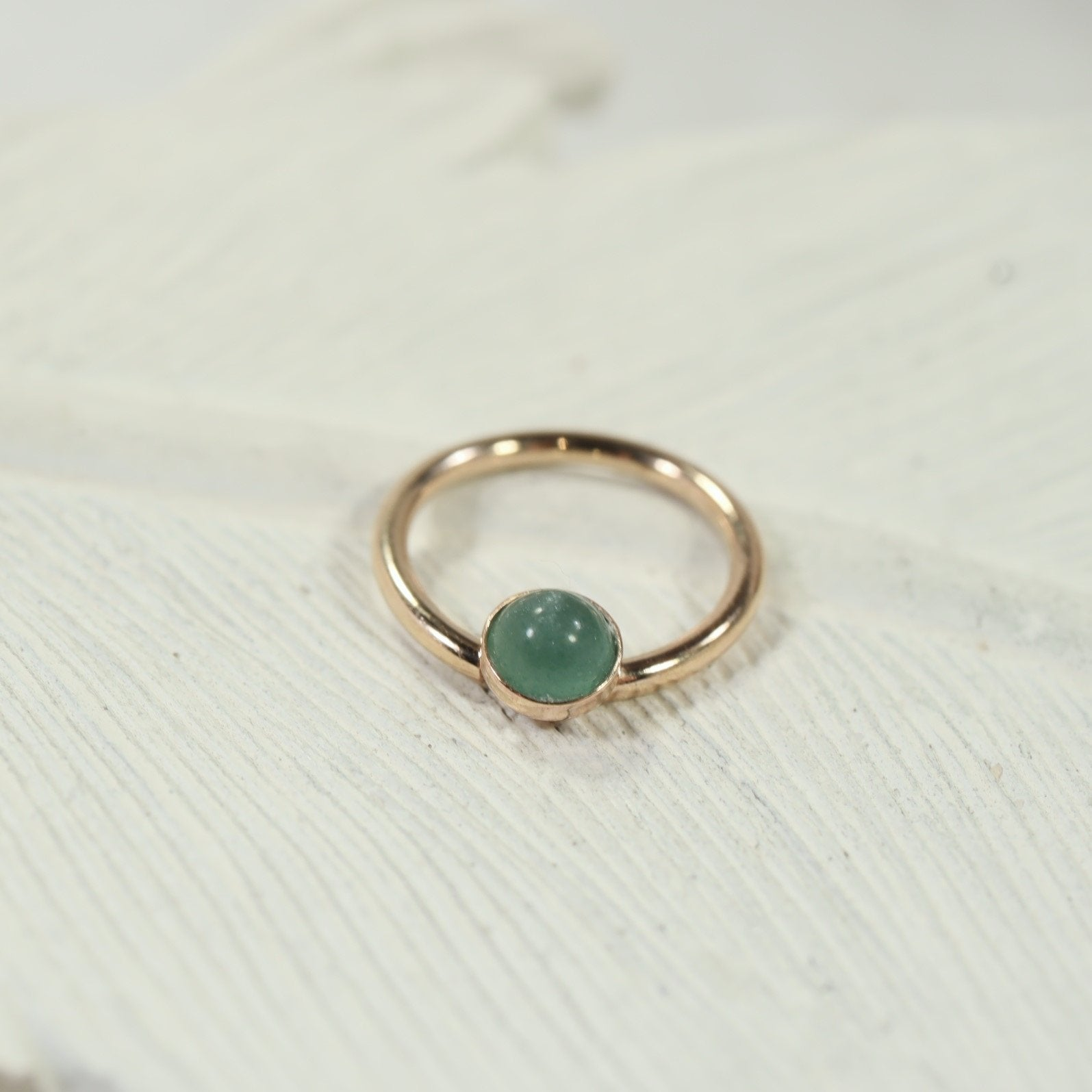Septum Ring Gold 4mm Gemstone Your Choice Of Metal Gauge