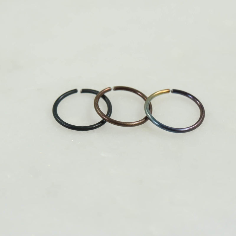 plain endless niobium black, bronze, rainbow