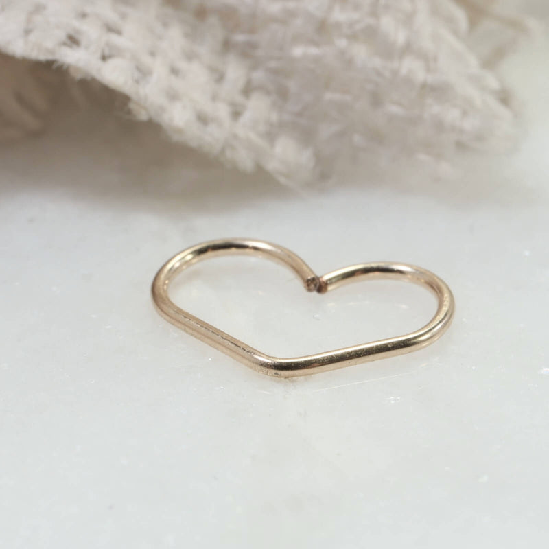 tragus heart hoop earring gold