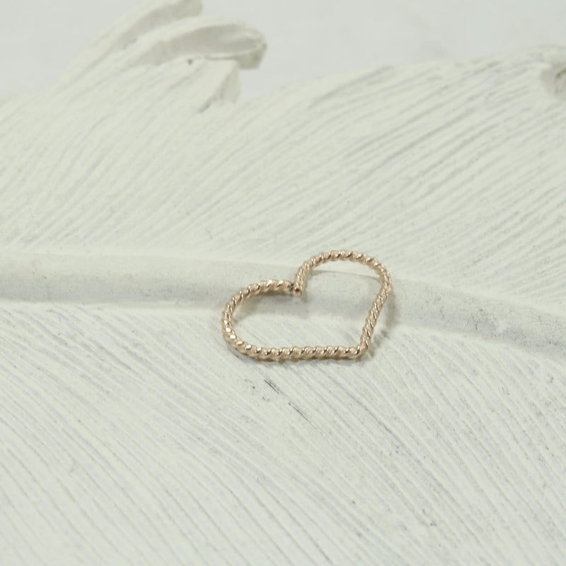 dot twist heart tragus hoop gold