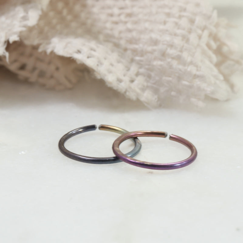 niobium endless hoop earrings rainbow