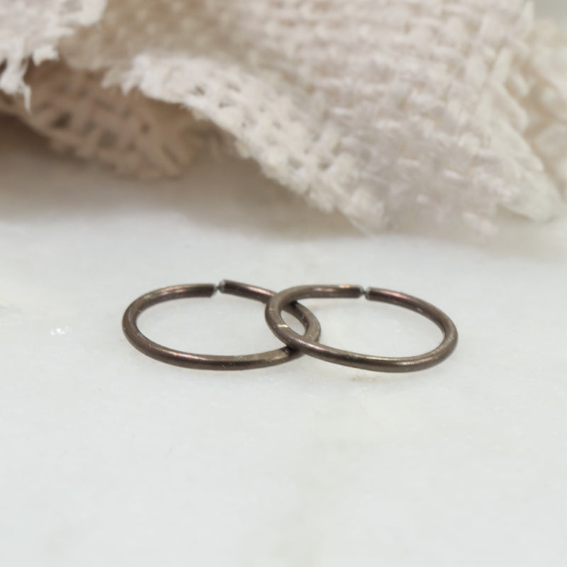 bronze niobium hoop earrings endless
