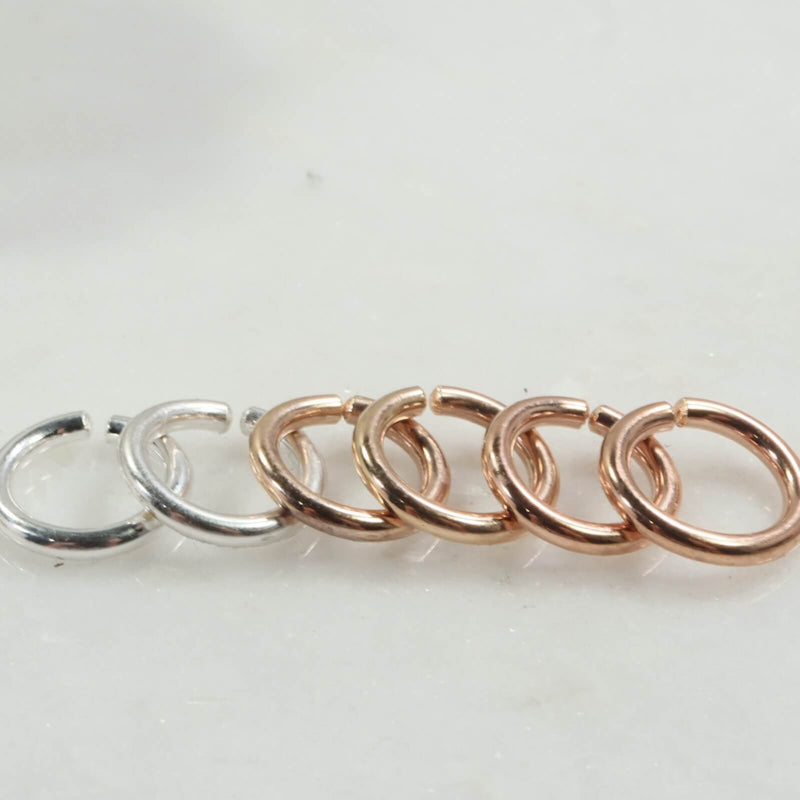 12 gauge hoop earring for piercings silver, gold, pink gold