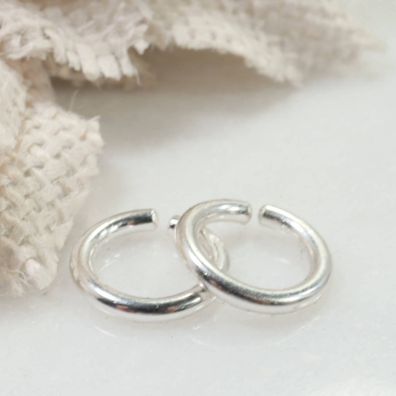 12 gauge hoop earring for piercings silver