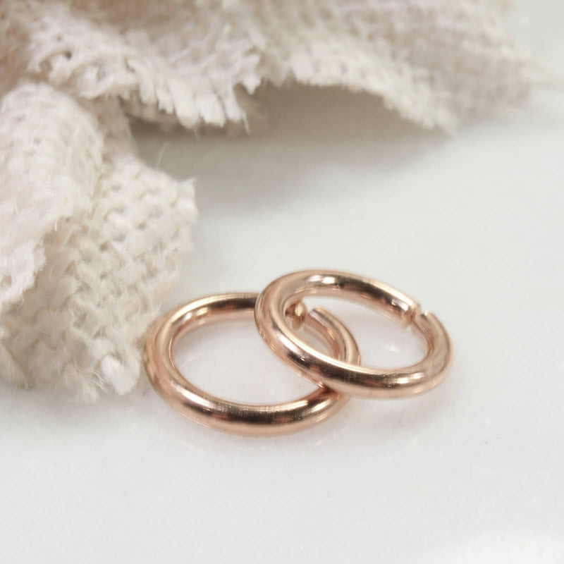 12 gauge hoop earring for piercings pink gold