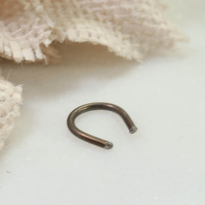 horseshoe septum retainer bronze