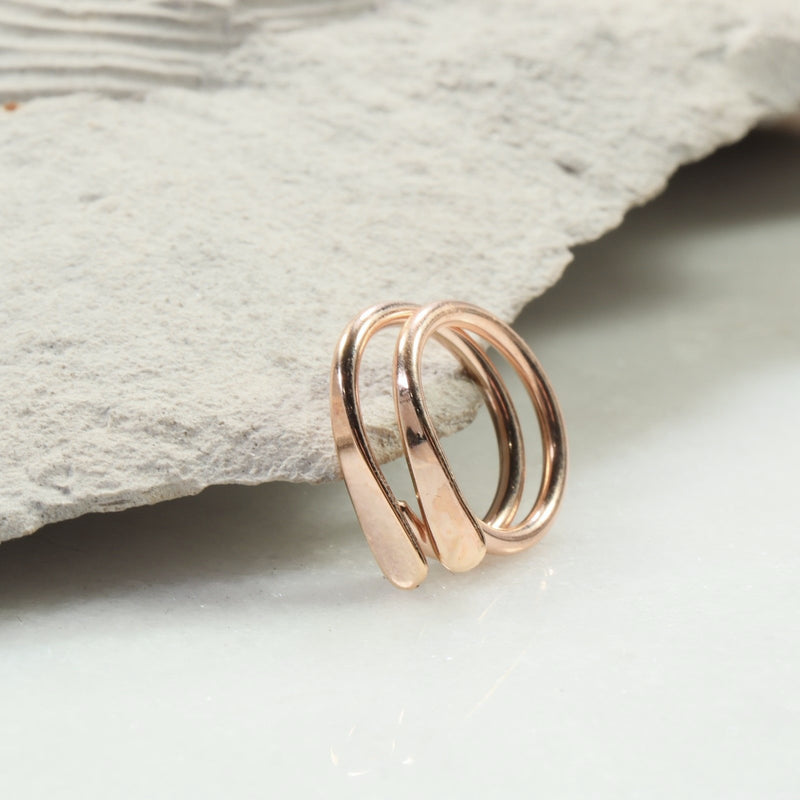 flat hoop earrings gauged pairs pink gold