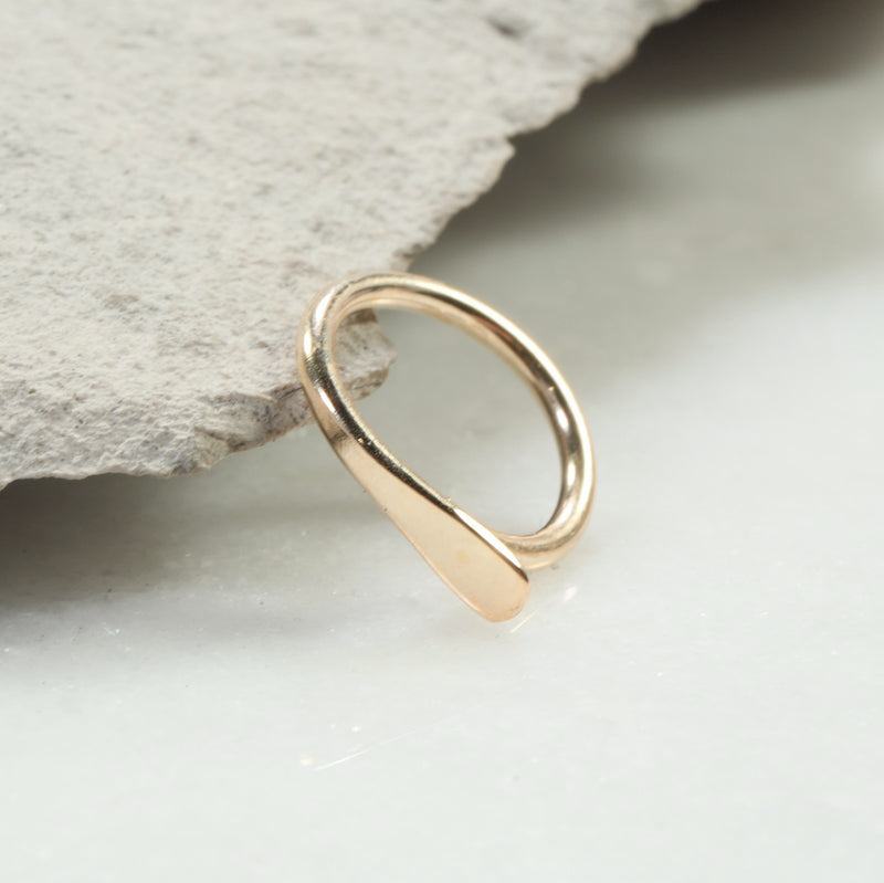 flat gauged hoop earring single gold