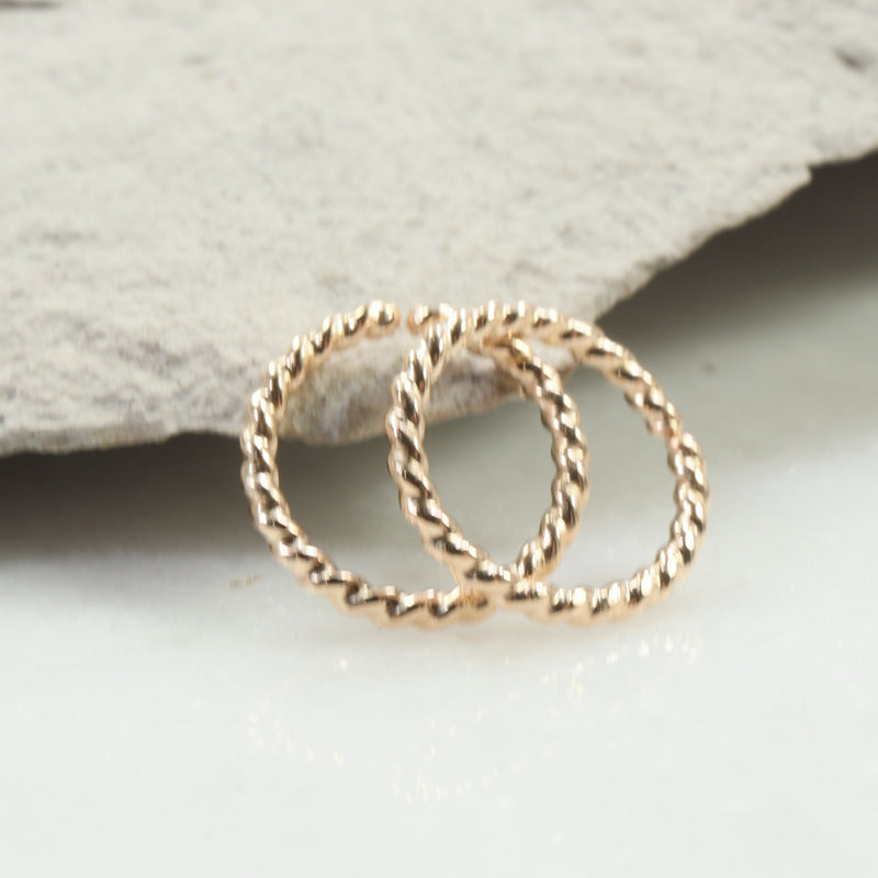 dot twist 16 gauge hoop earrings gold