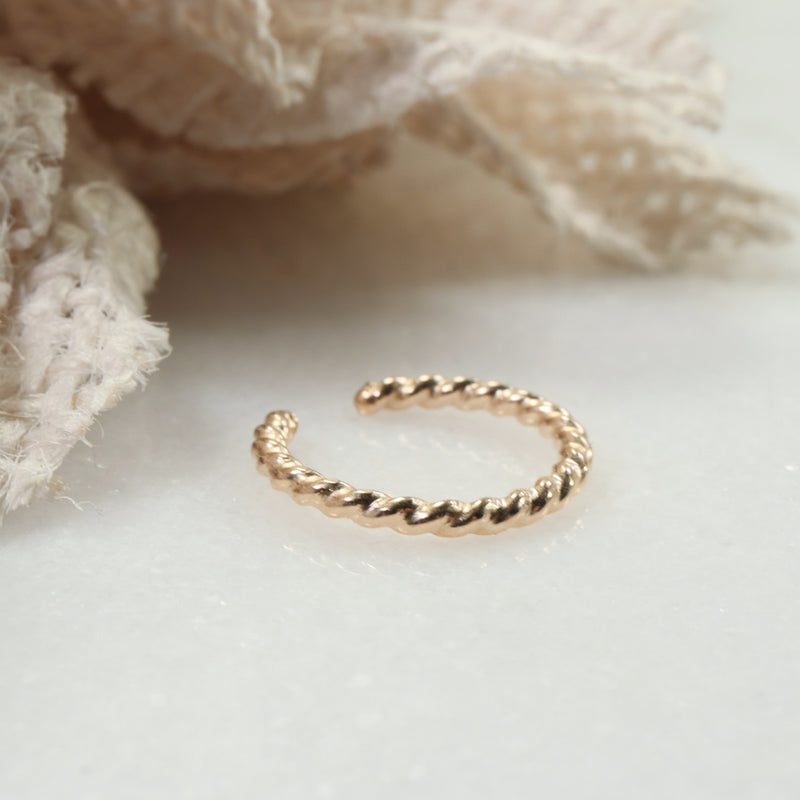 dot twist ear cuff gold