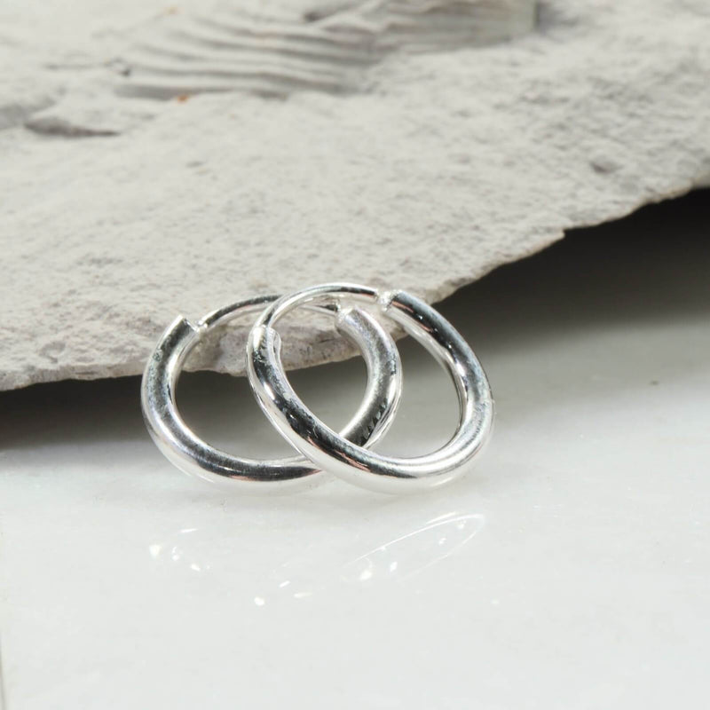 illusion hoops 12 gauge silver