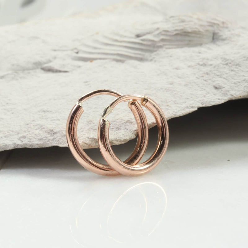 illusion hoops 12 gauge pink gold
