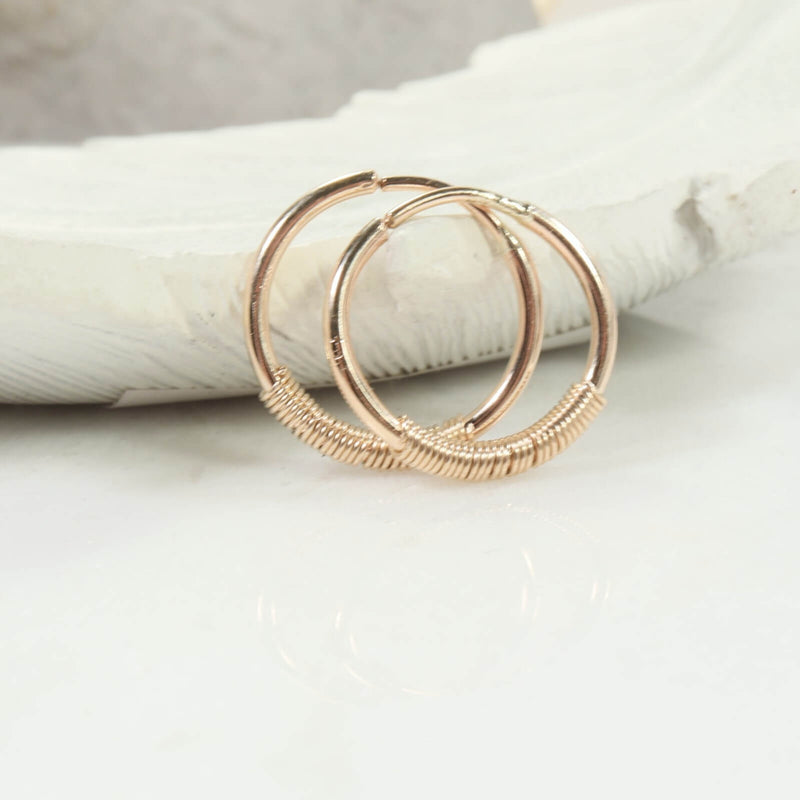 wrapped illusion hoops in gold