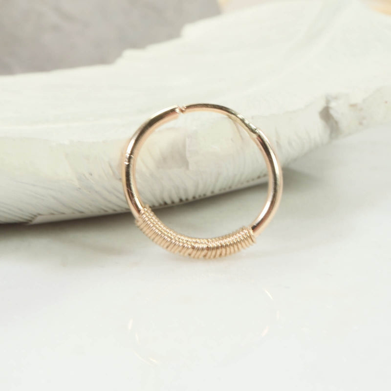single illusions hoop wrapped in gold