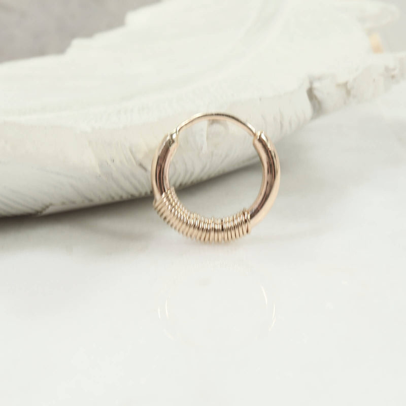 illusion hoop single wrapped gold