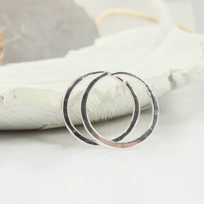 illusions hammered hoops silver