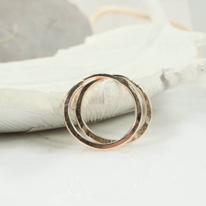 illusions hammered hoops gold