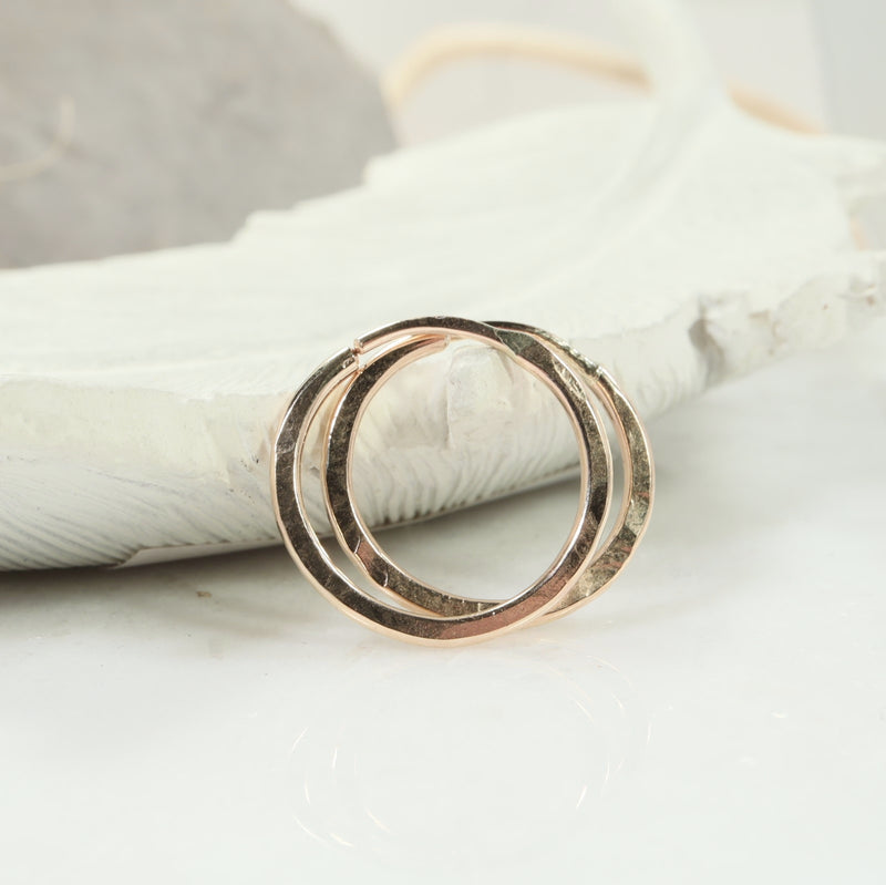 illusions hoops hammered gold