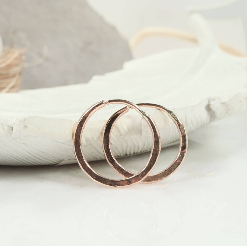 illusions hammered hoops pink gold
