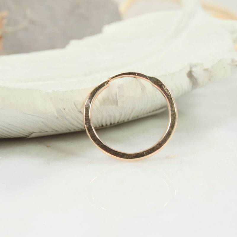 illusions hammered single hoop earring gold