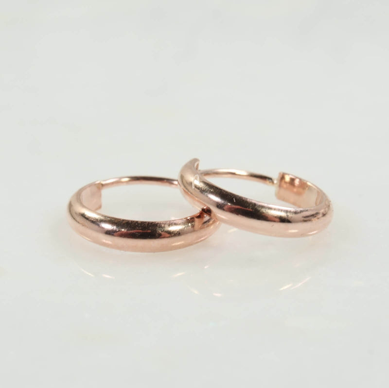 half round illusion hoops pink gold