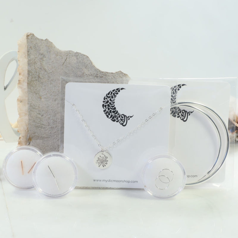 necklace packaging for large crescent moon