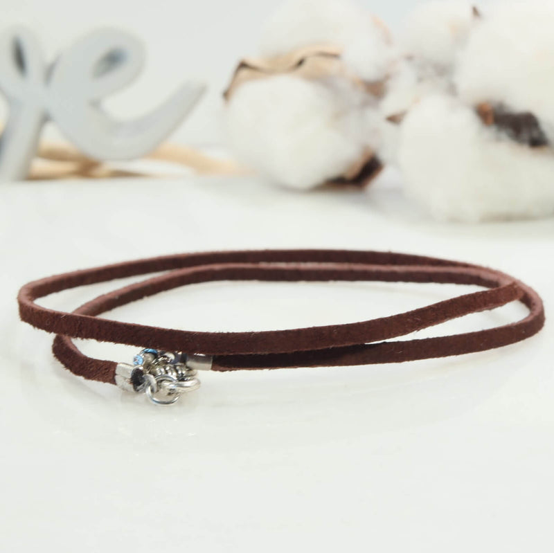 suede necklace brown