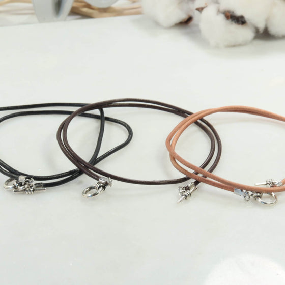 Leather Cord Necklace Your Choice Of Color and Length Wear Alone Or Add Your Pendant