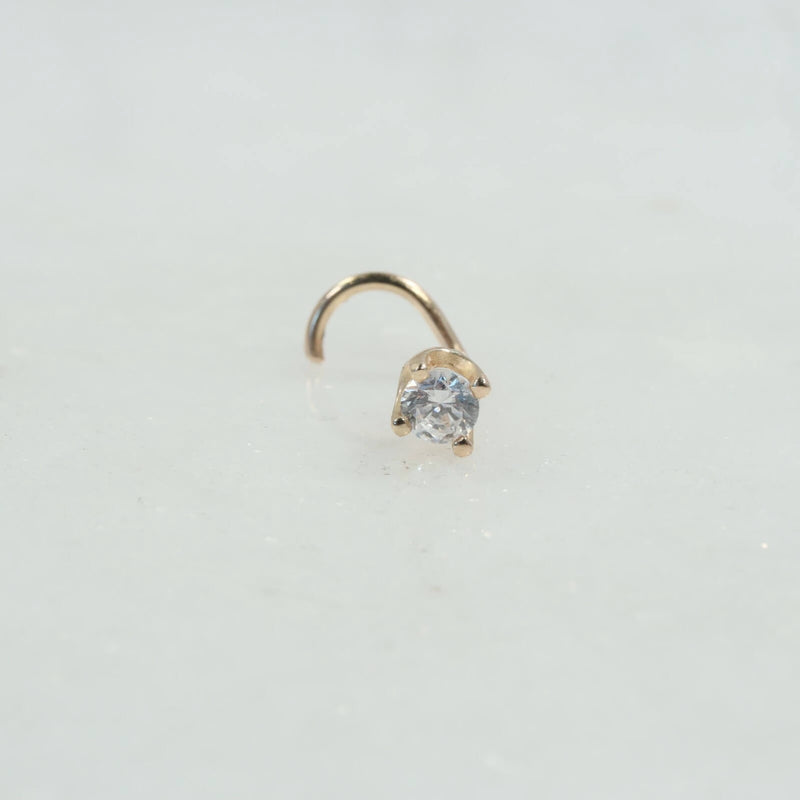 3mm diamond look nose stud