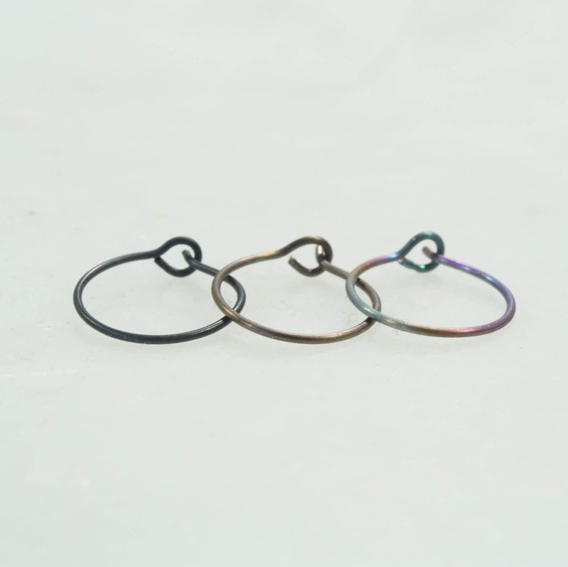 super thing niobium nose ring black bronze rainbow