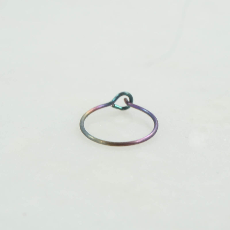 rainbow niobium nose ring