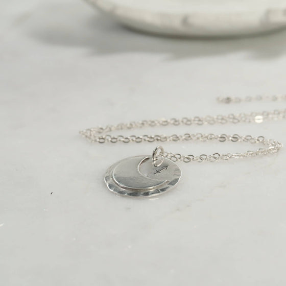 crescent moon astrology necklace