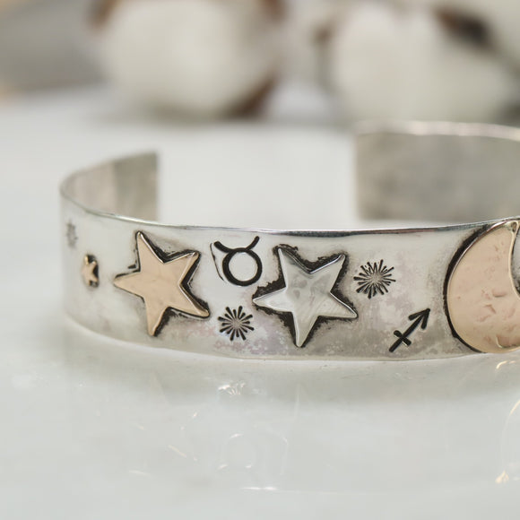 wide band astrology bracelet