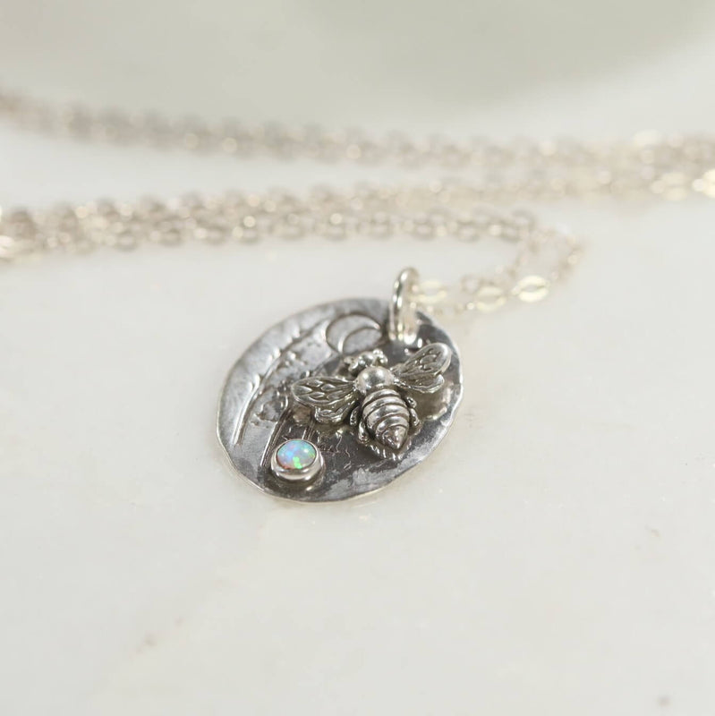 Bumble Bee Necklace Sterling Silver