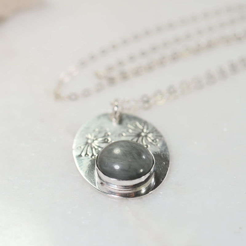 dandelion cats eye necklace