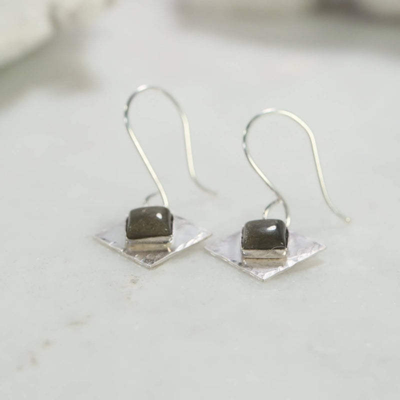 goldstone square earrings