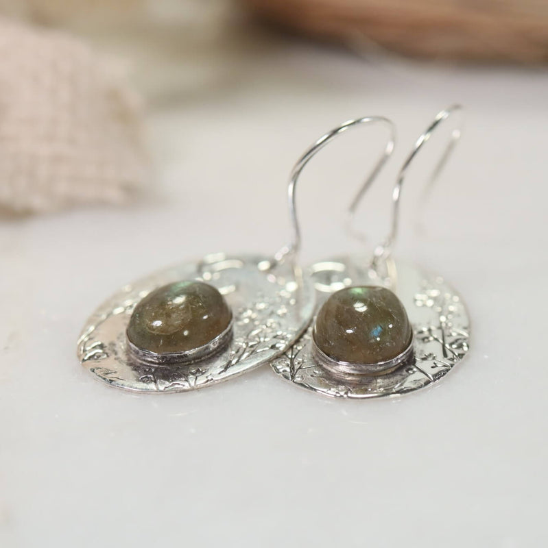 Labradorite nature earrings