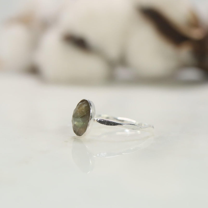 side view labradorite ring