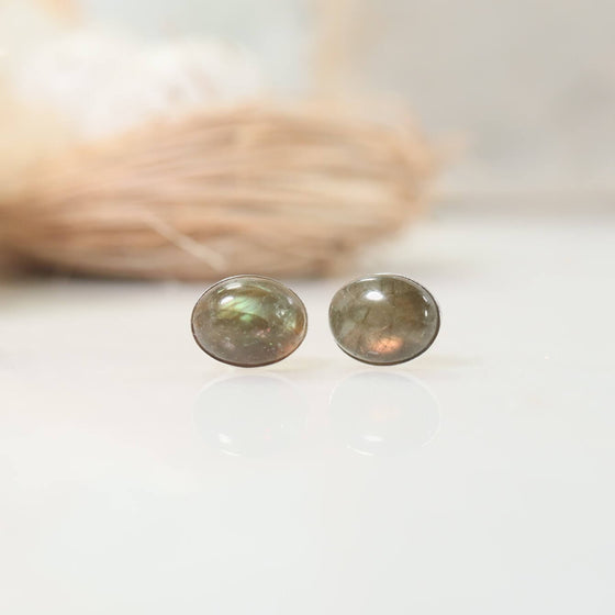 green witch collection labradorite studs