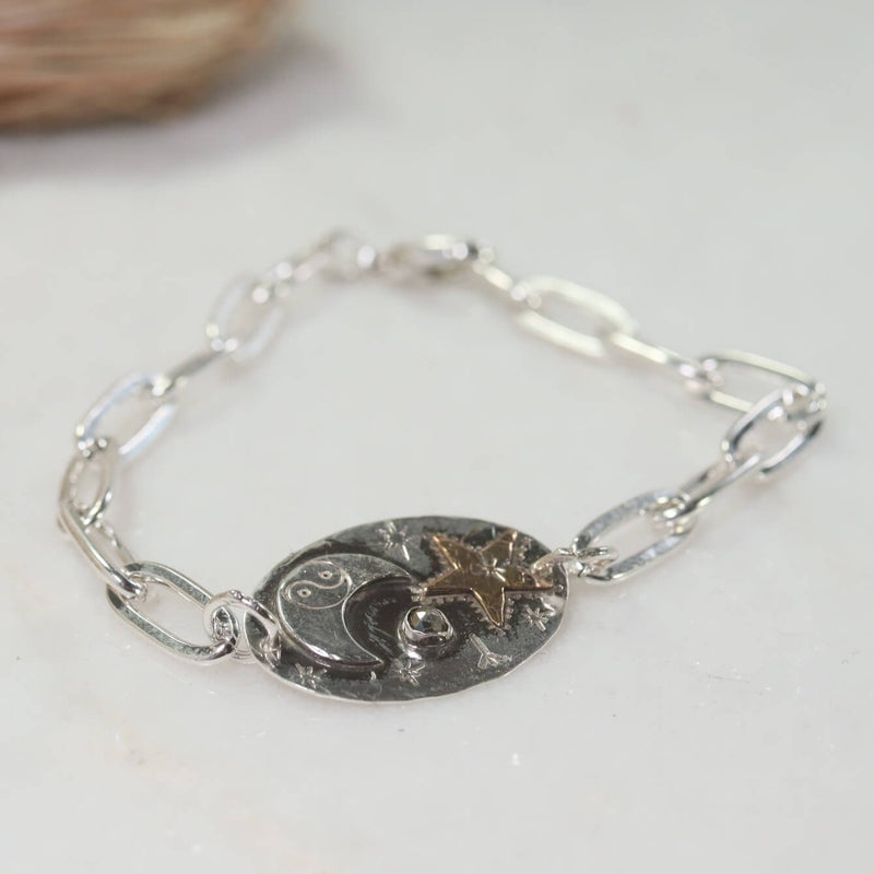 Chain Celestial Witch Bracelet Sterling Silver