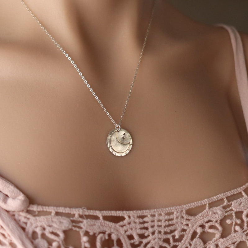 crescent moon astrology sign necklace